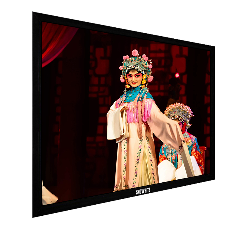 SNOWHITE 120 inch diagonal, 16:9 Aspect Ratio, 4K Ultra-HD Higher-Contract Vivid Colors Wide Viewing