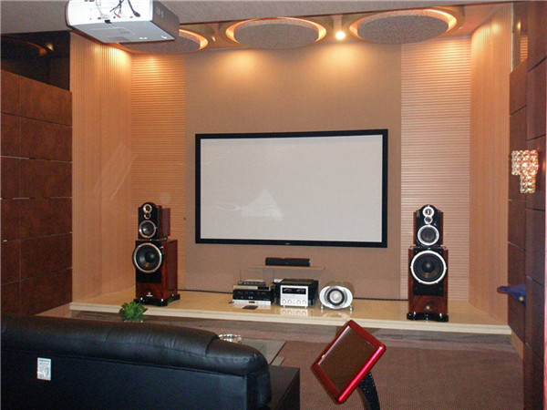 Snowhite Screen in the Entertainment AV Studio in Jinhua, Zhejiang, China