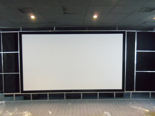 Snowhite Woven Acoustic Fix Framed Projection Screen