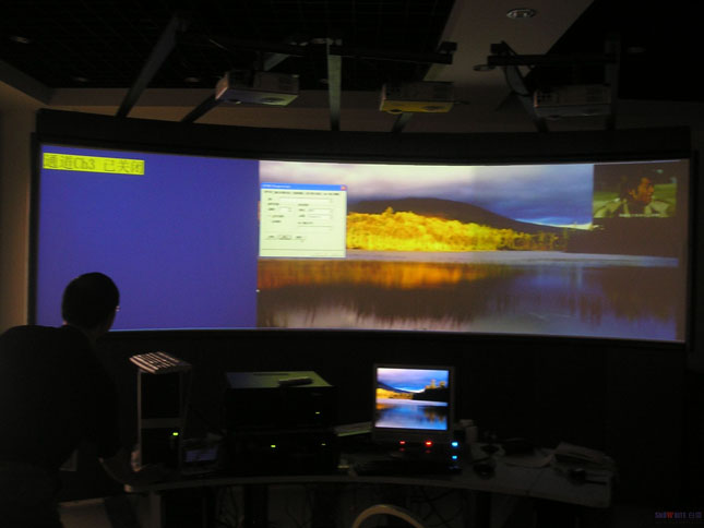 Snowhite Front Curved Hard Projection Screens